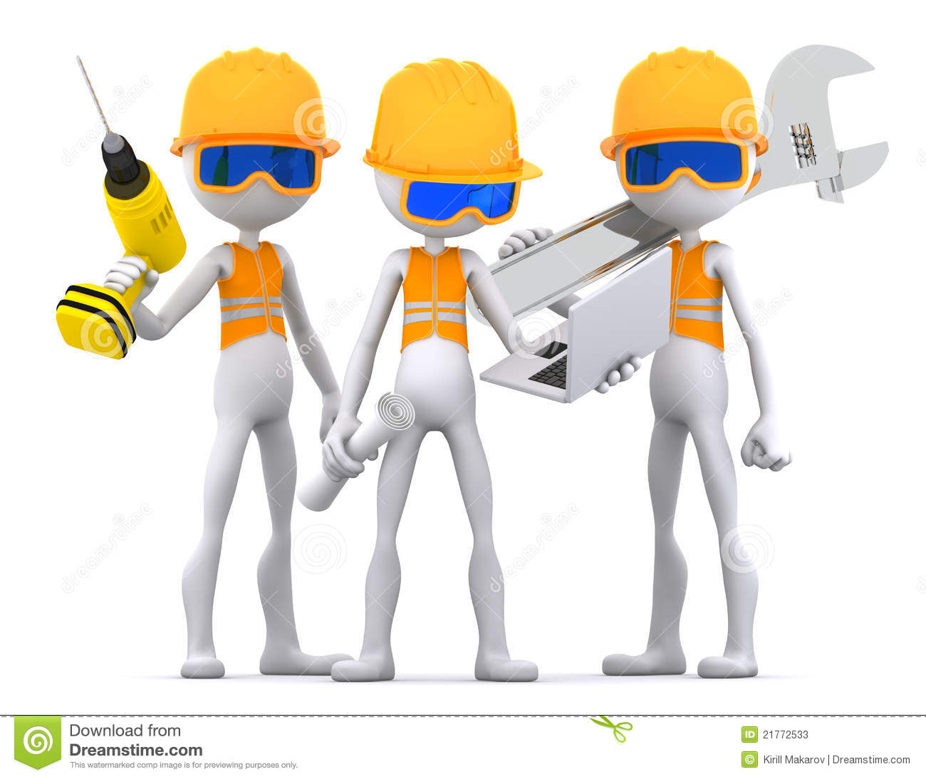 Industrial Contractors Workers Team Stock Photos Image