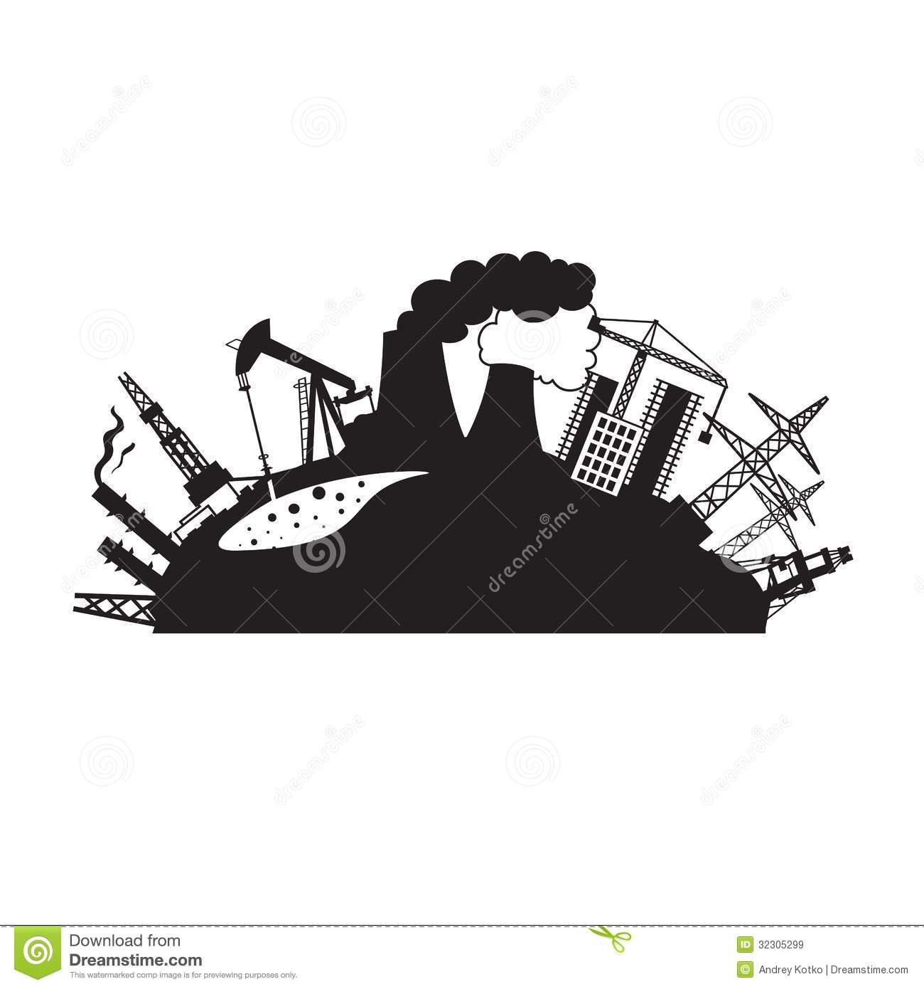Factory clipart black and white