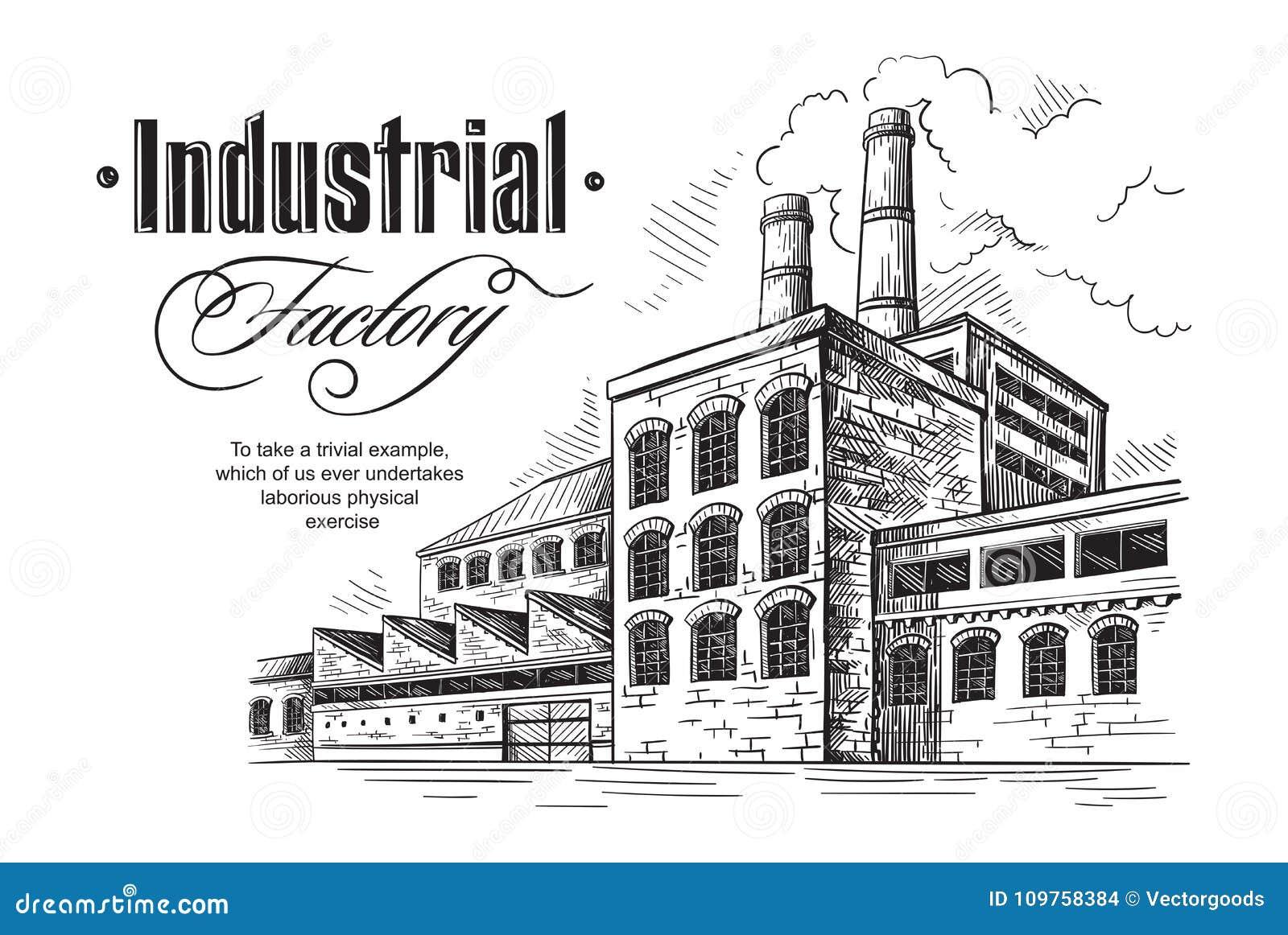 Industrial Distillery Factory Stock Vector - Illustration of ... on
