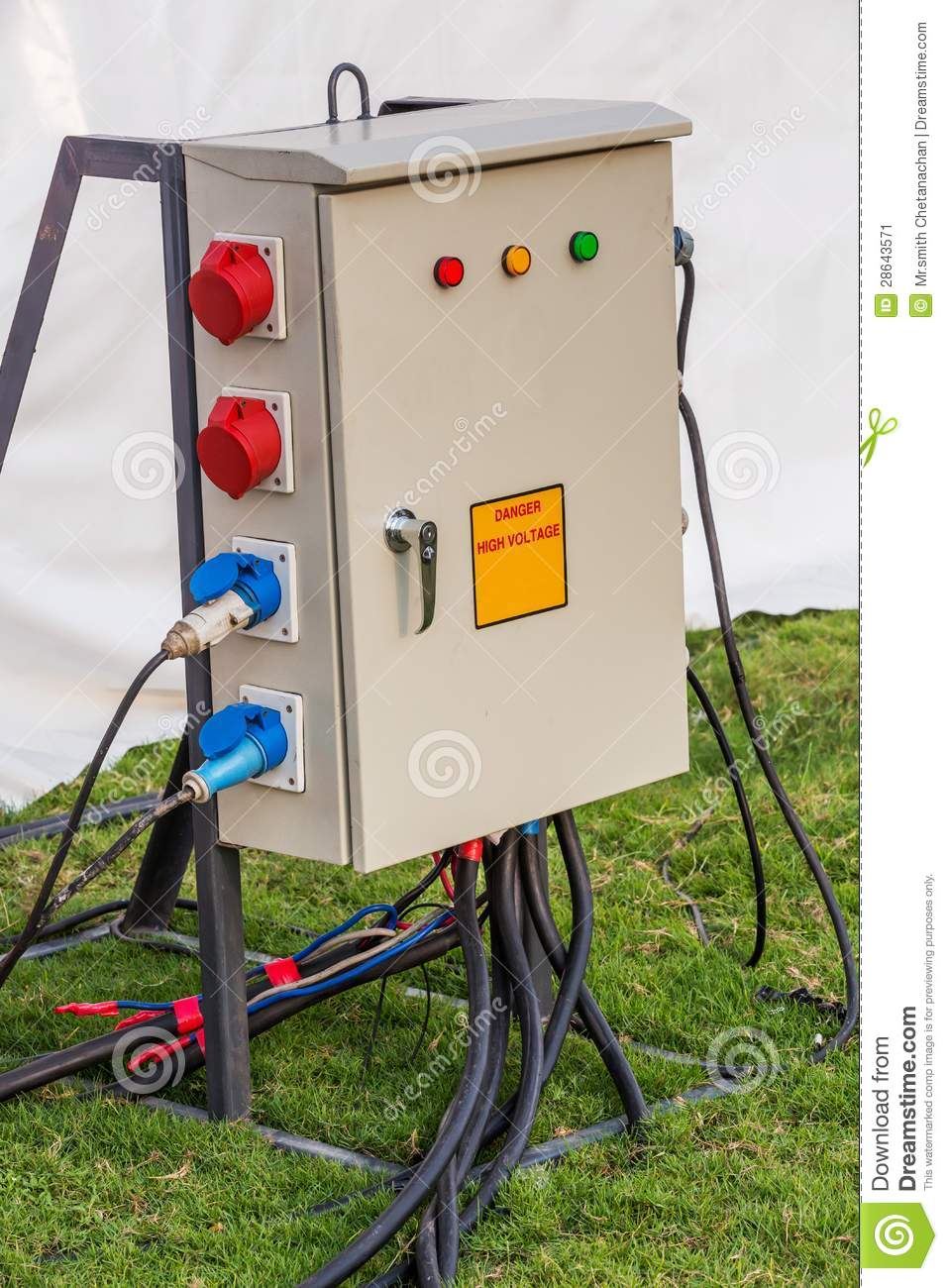 Industrial Distribution Socket Box Stock Image Of Wiring A Plug From Another Free Download Preview