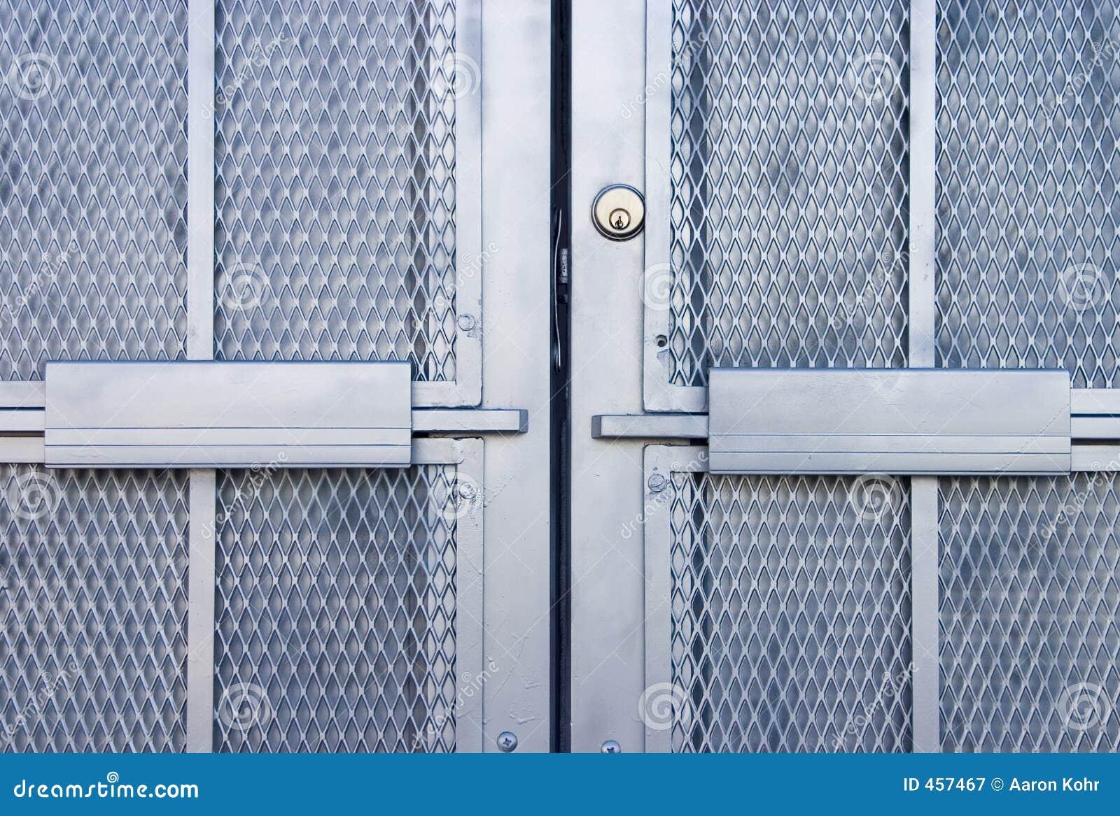 Download Industrial Door 1 stock image. Image of silver, metal, industrial - 457467