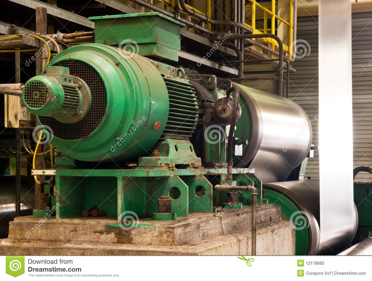 Industrial Electric Engine Stock Photo Image 12118660