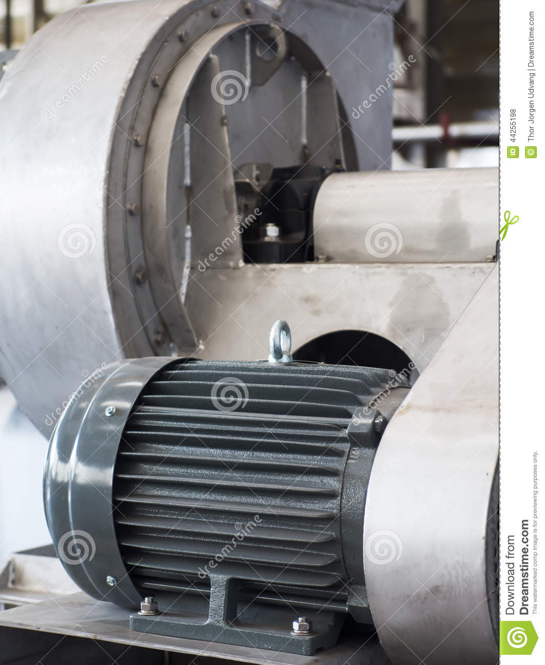 Industrial Electric Motor Stock Photo Image 44255198
