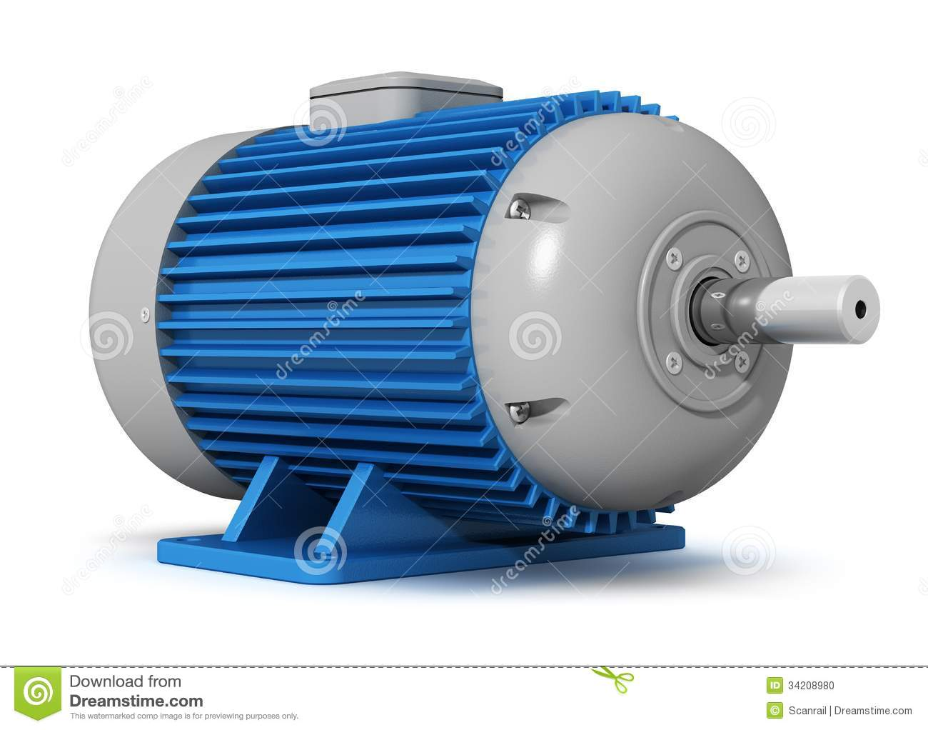 Industrial Electric Motor Stock Photo Image 34208980