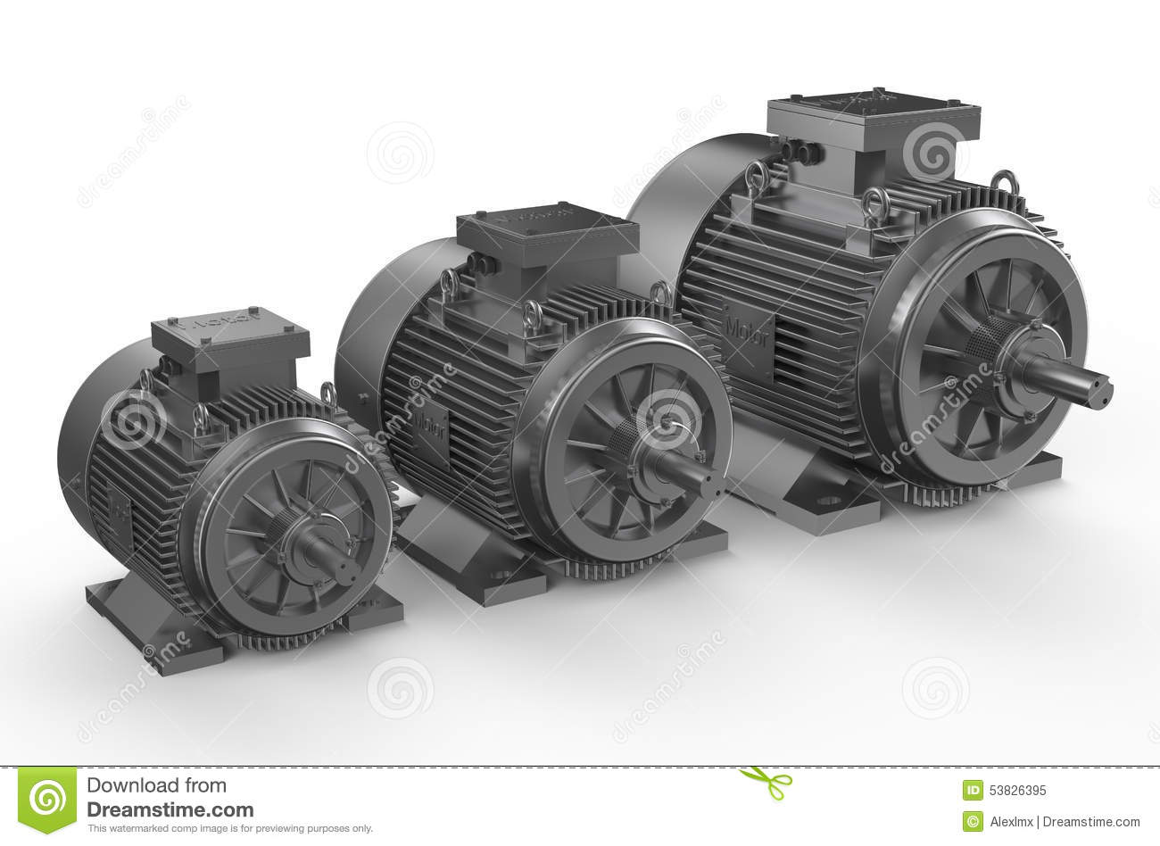 Industrial Electric Motors Stock Illustration Image Of
