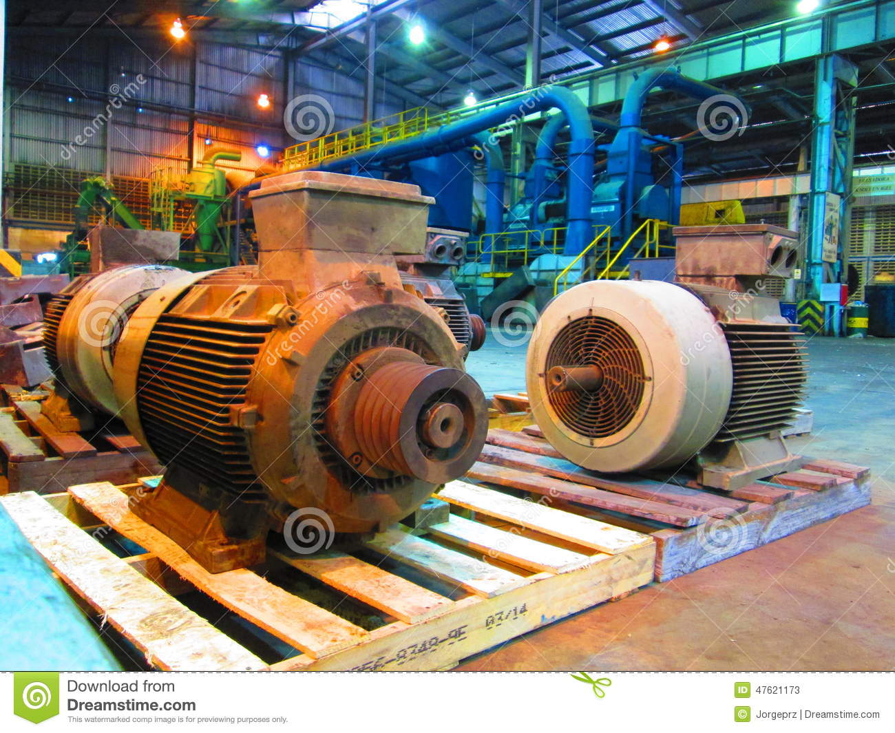 Industrial electric motors stock photo image 47621173 for Used industrial electric motors