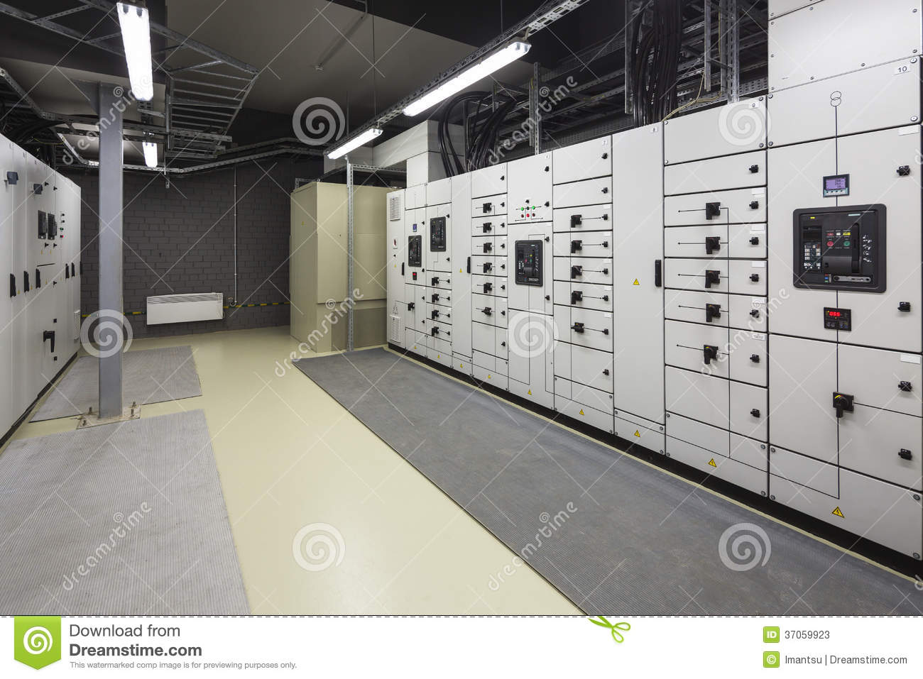 Industrial Electrical Switch Panel Stock Image Image Of