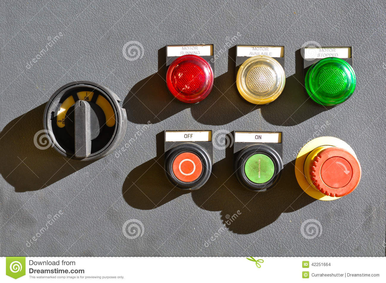 Industrial Electrical Switch Panel Stock Photo - Image of electric ...