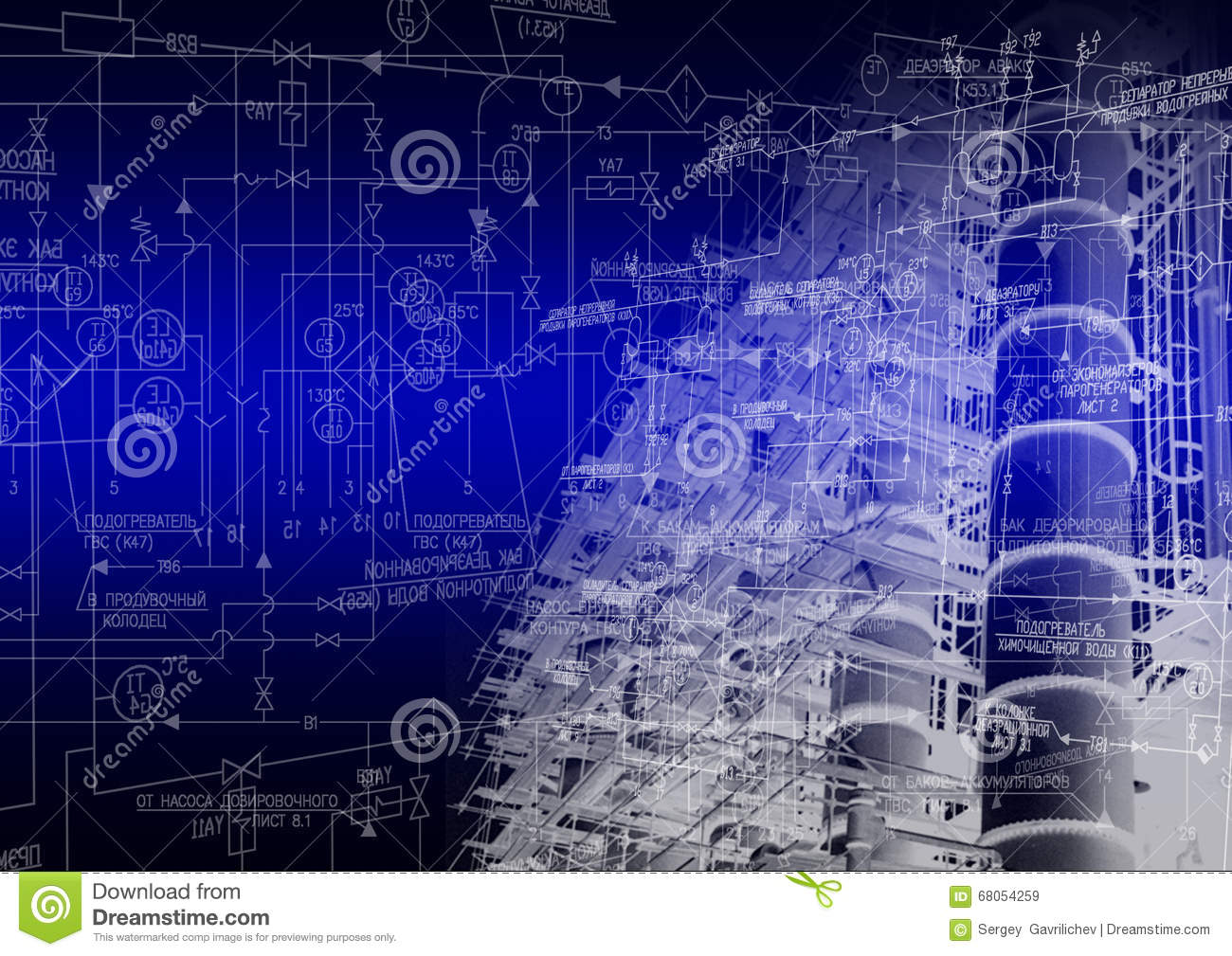 Industrial Engineering Technology Stock Photo - Image: 68054259