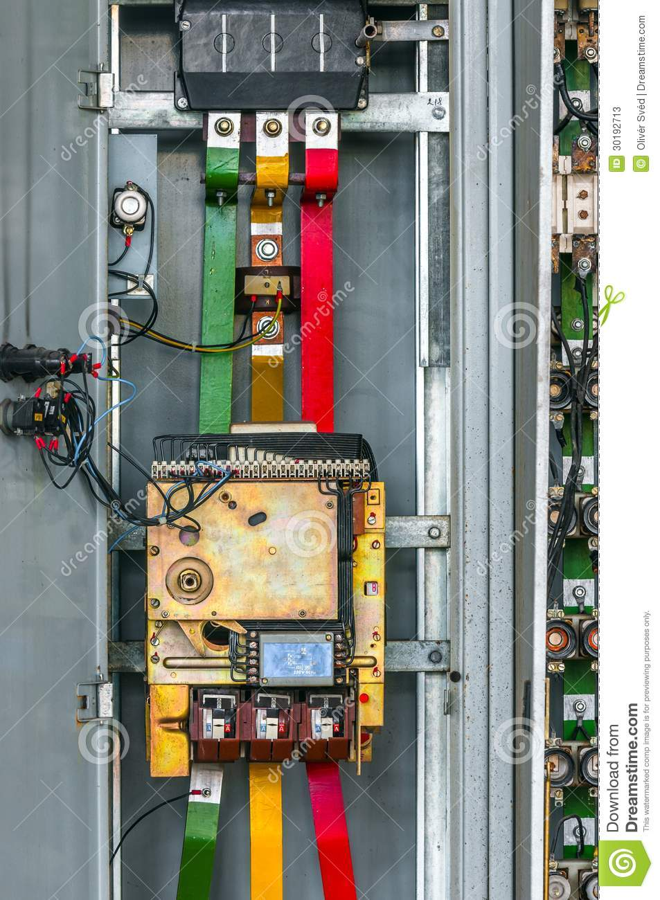 industrial fuse box on the wall stock image image of background rh dreamstime com Bussmann Fuse Company industrial fuse box