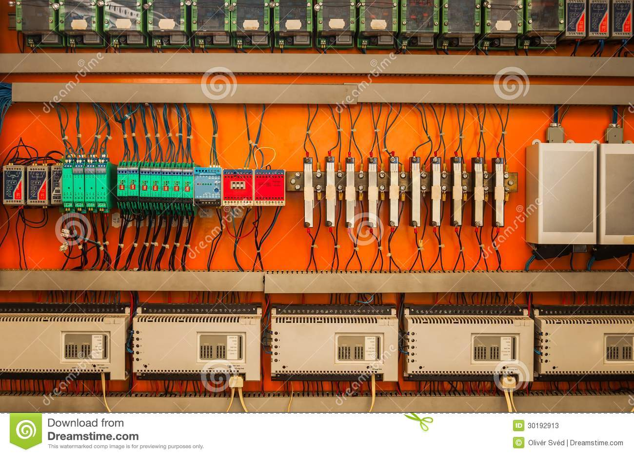 Industrial Fuse Box On The Wall Stock Image Of Line Burnt Home