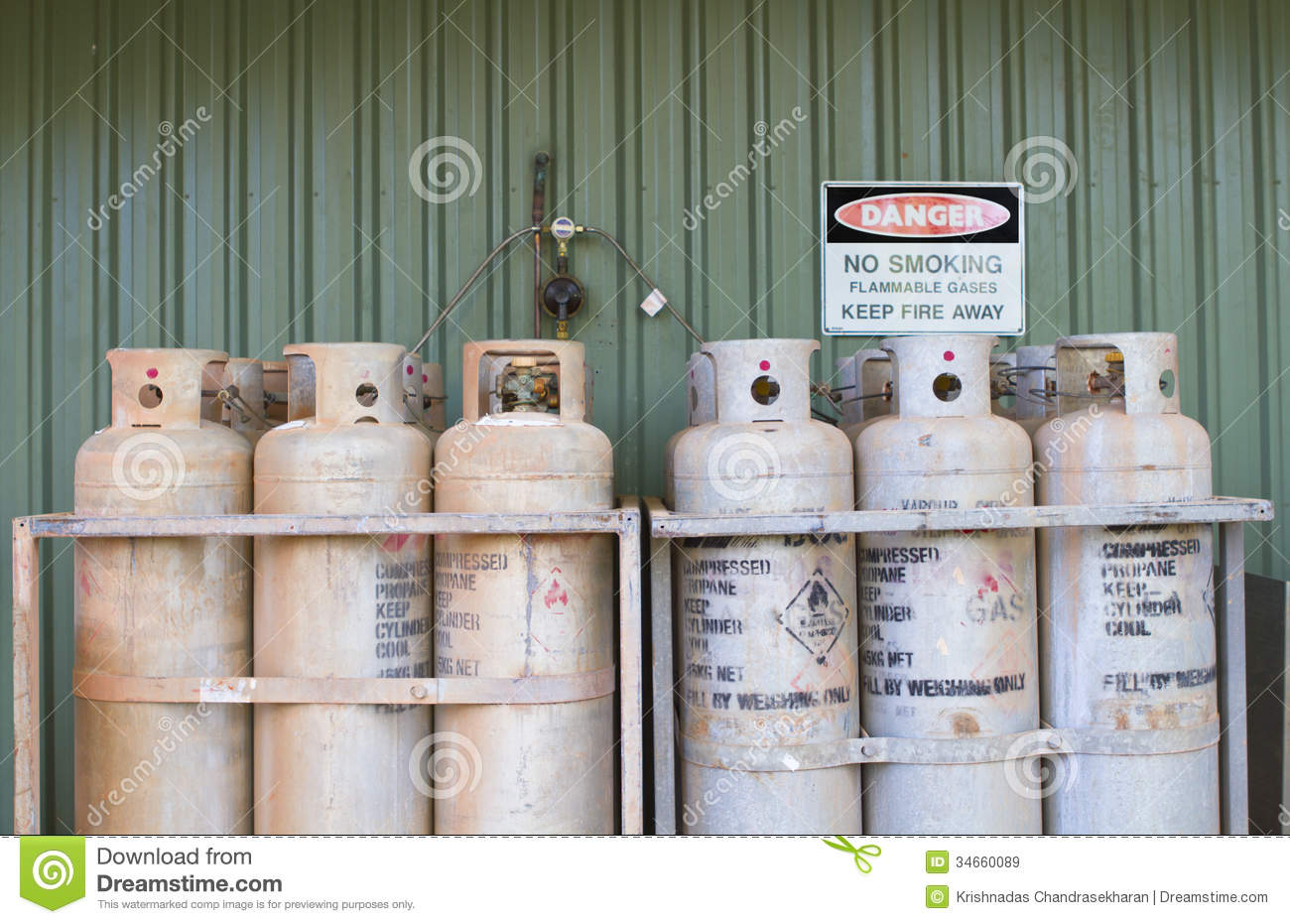 Industrial Gas Cylinders Royalty Free Stock Images Image