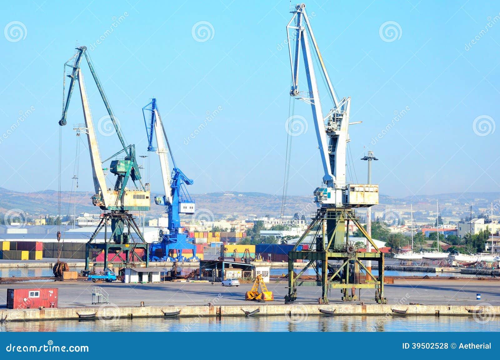 Industrial harbor in Volos, Greece
