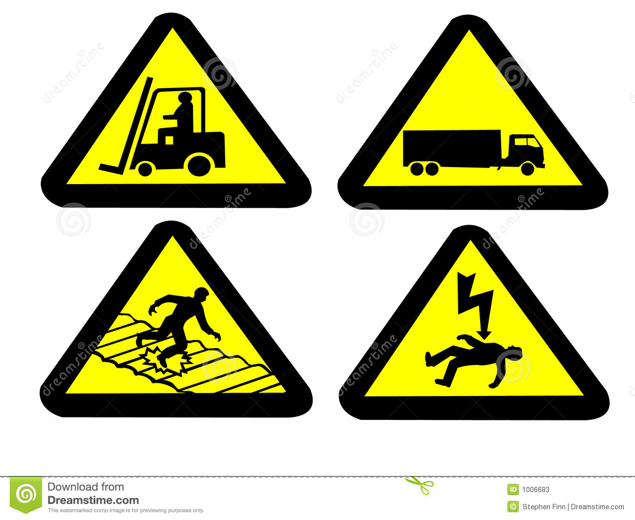 Industrial Hazard Signs Stock Vector Image Of Vector