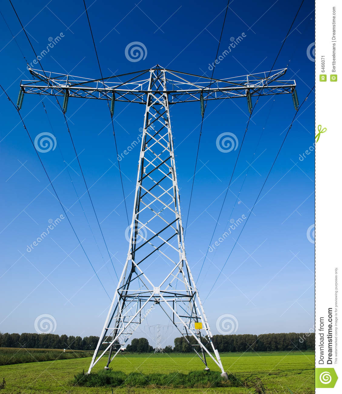 Industrial high voltage power line