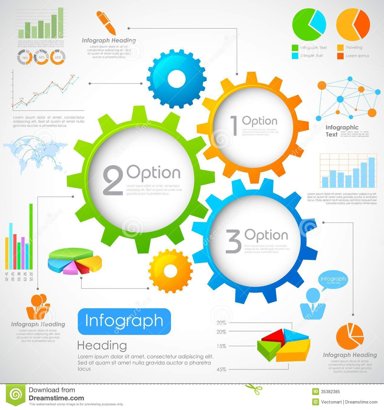 Industrial Infographics Chart Royalty Free Stock Photo