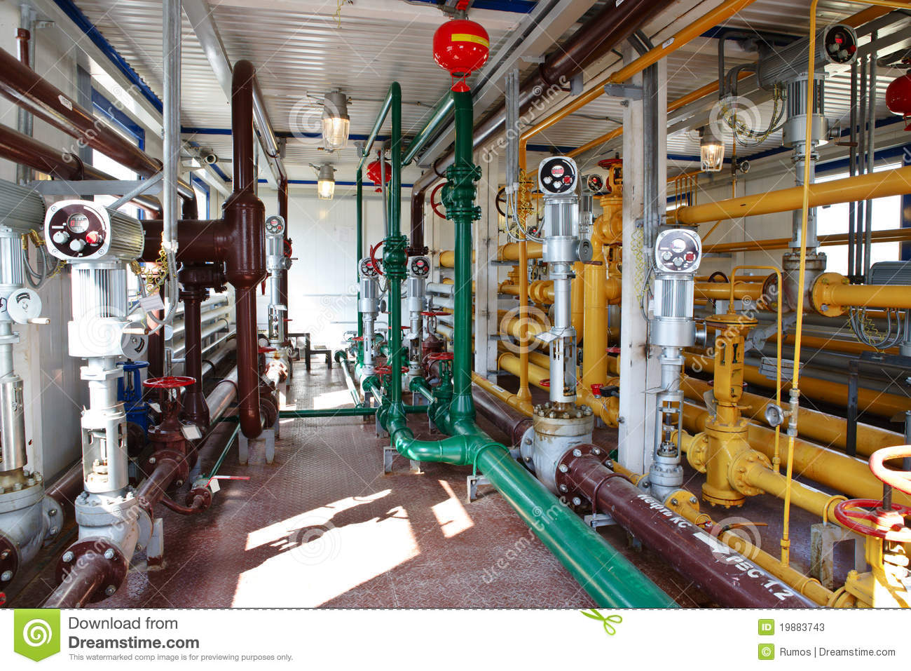 Industrial Interior In Oil And Gas Processing Stock Image ...