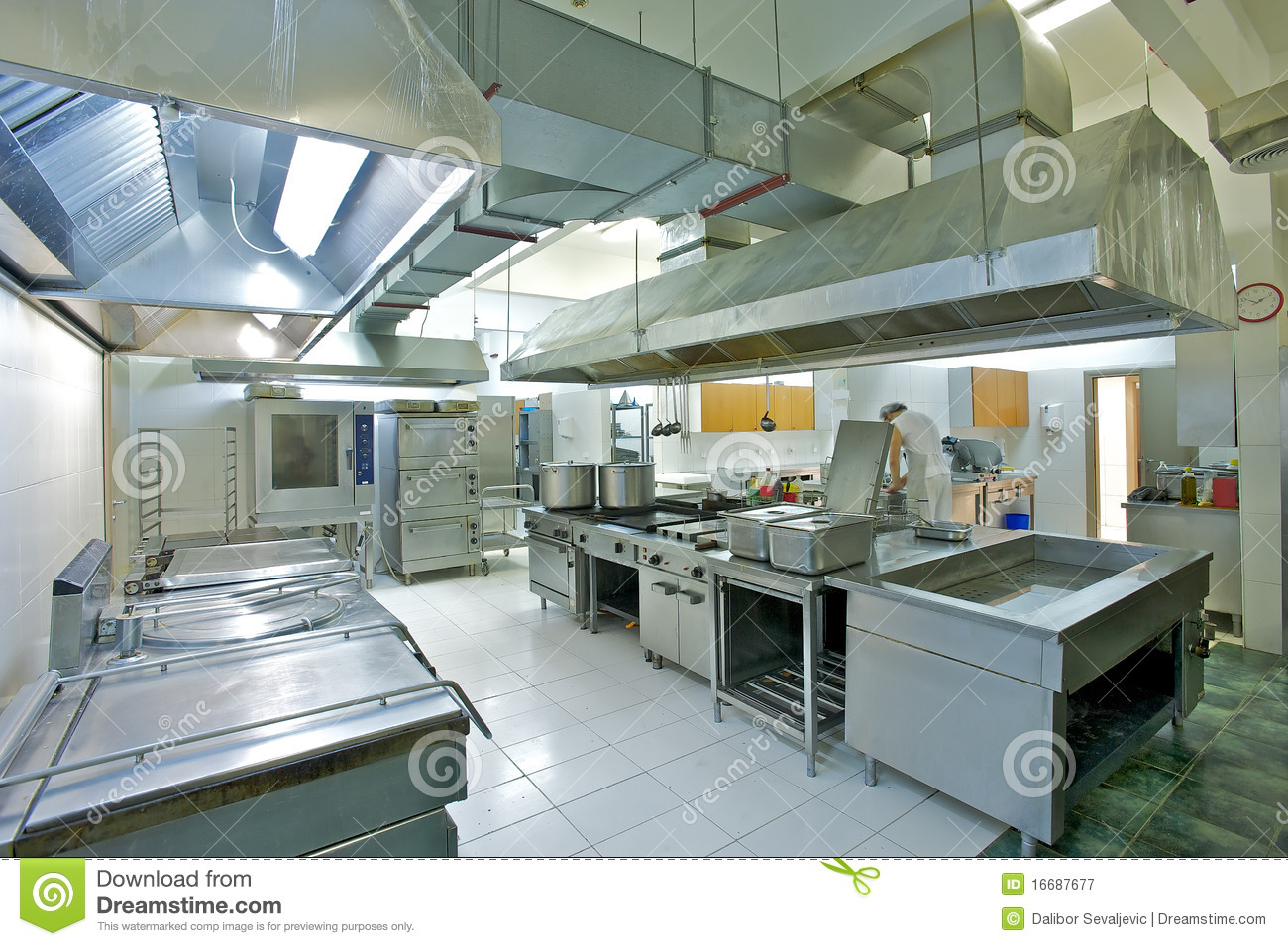 Industrial Kitchen Stock Image Image Of Steel Unit 16687677