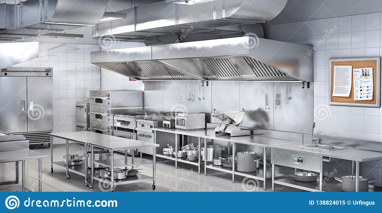 Industrial kitchen. Restaurant kitchen