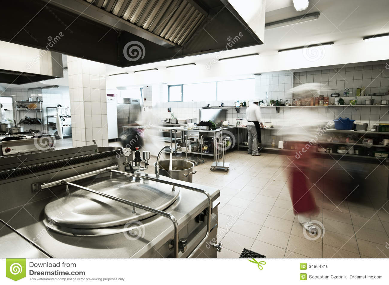Industrial Kitchen Stock Photo - Image: 34864810
