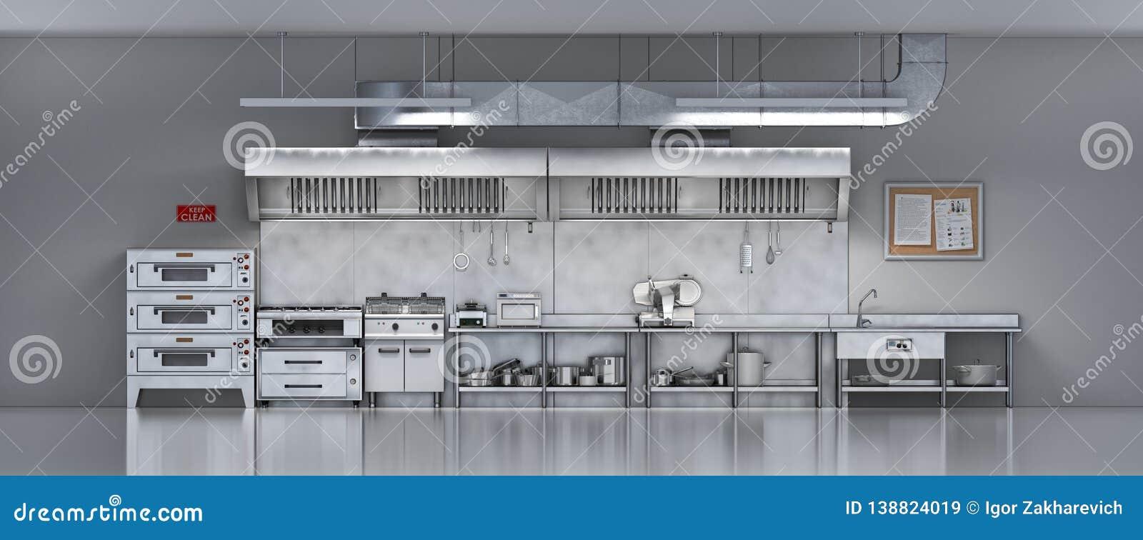 Industrial kitchen. Restaurant kitchen