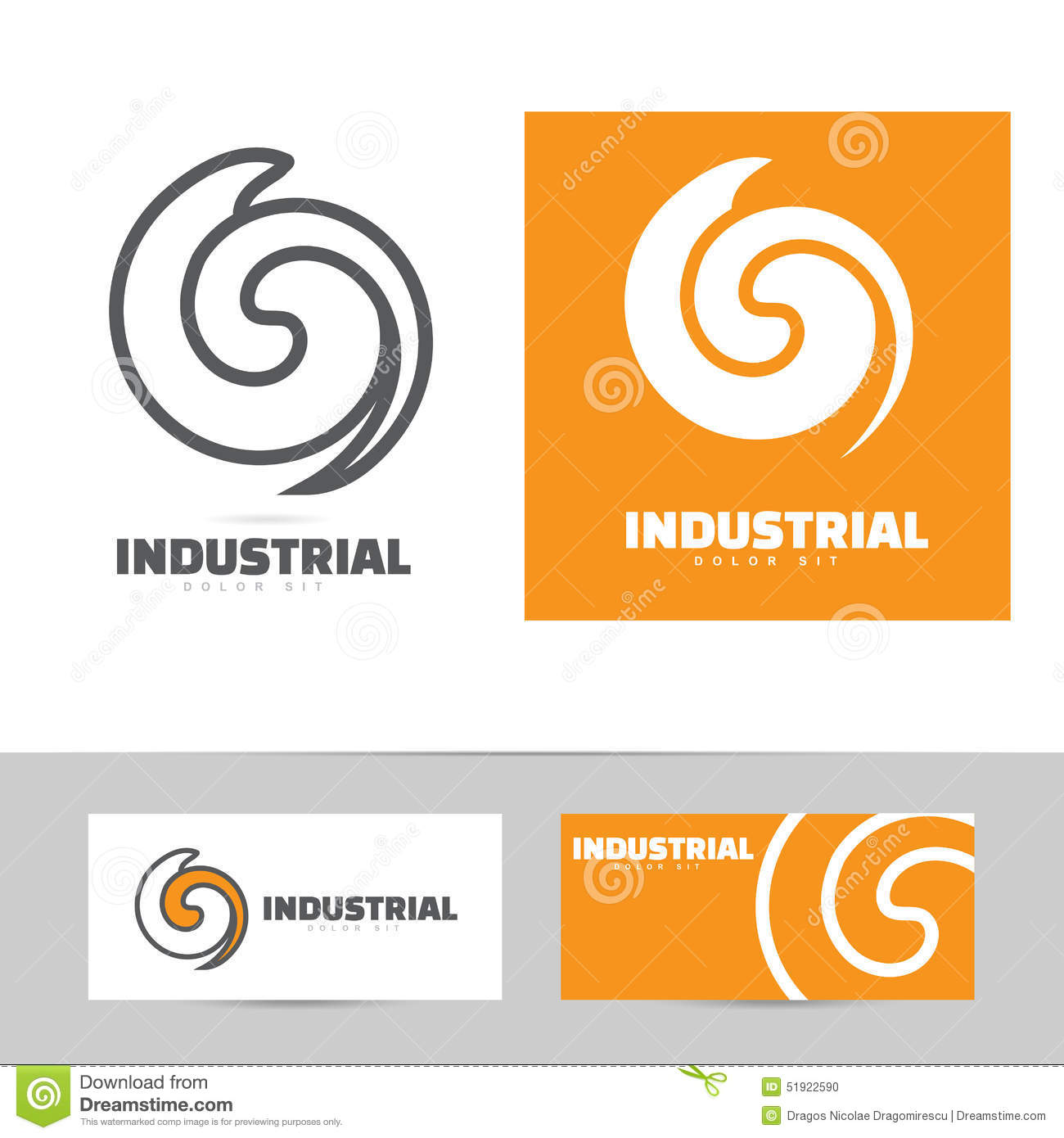 Industrial logo design concept stock vector image 51922590 for Industrial design company