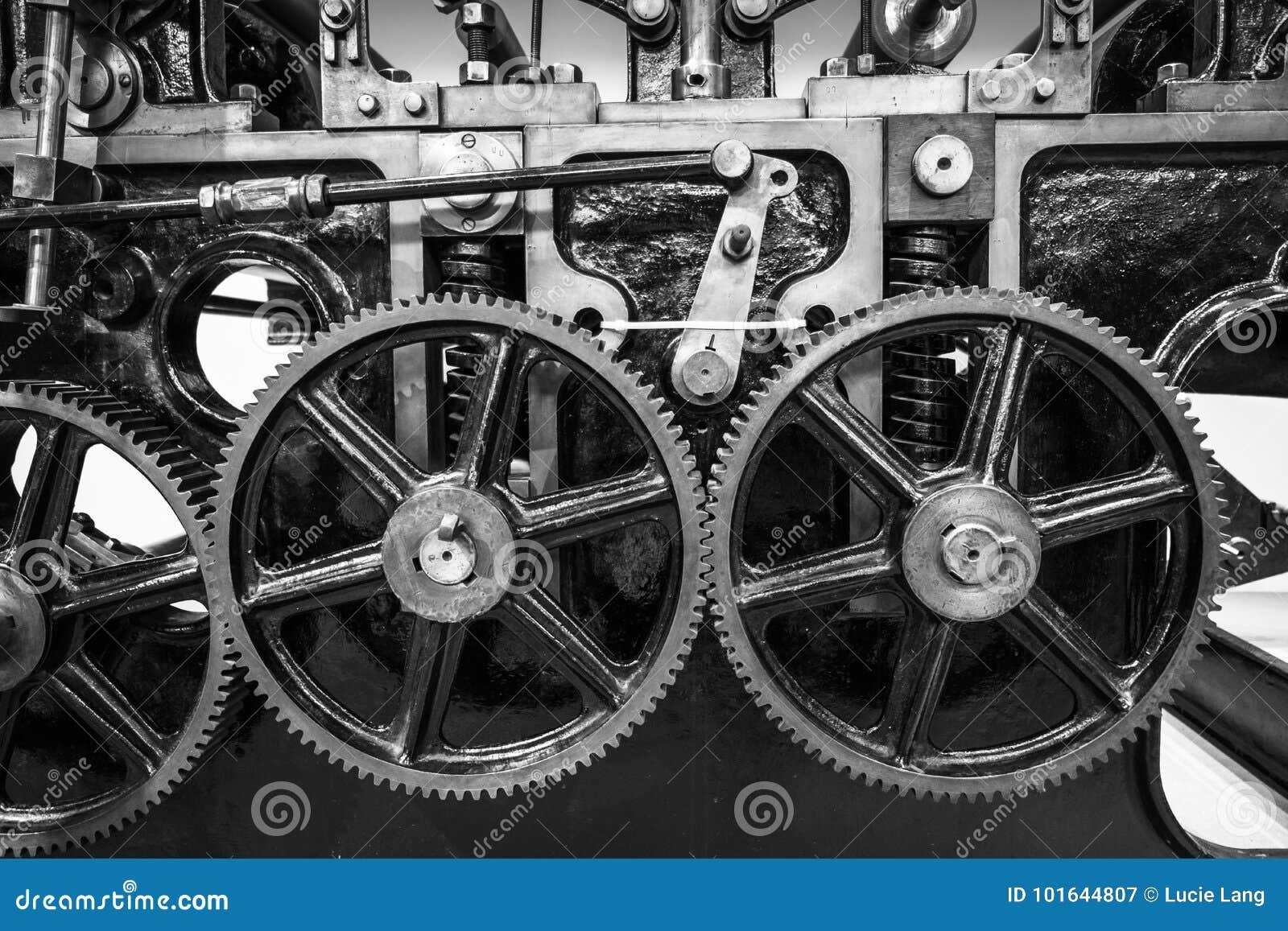 Industrial machine cogs.