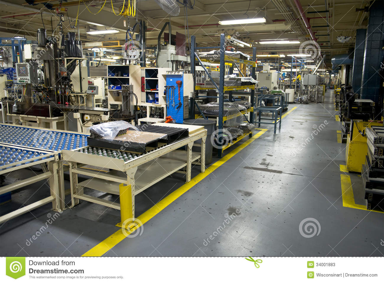 Industrial Manufacturing Factory Work Place Stock Image