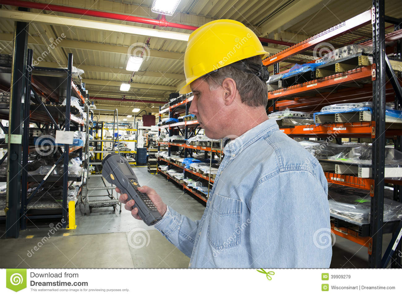 Industrial Manufacturing Inventory Warehouse Worke Stock