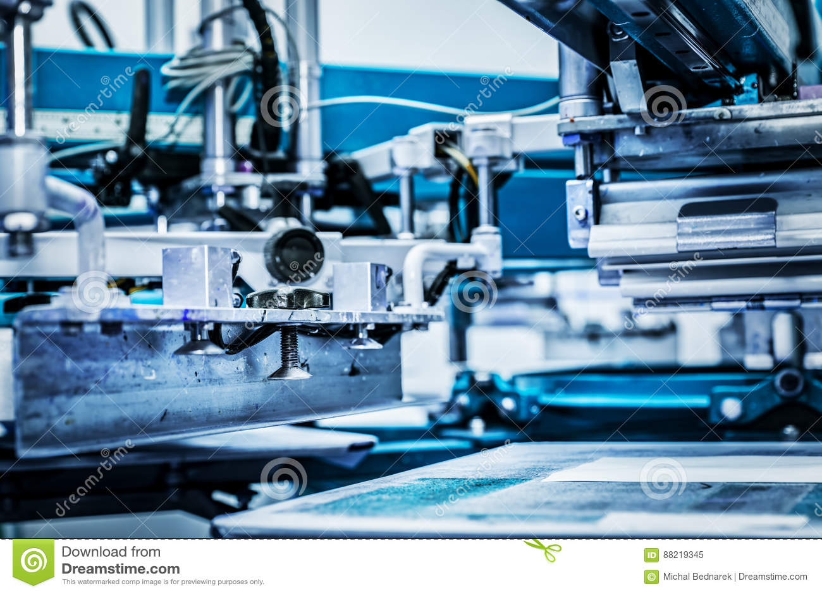 Industrial metal printing machinery.