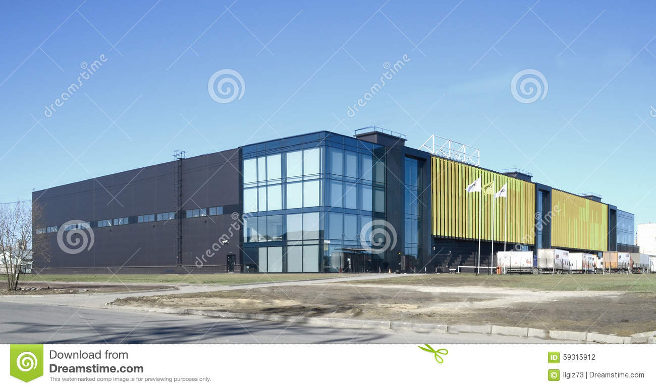 industrial modern building stock photo image of storehouse factory 59315912. Black Bedroom Furniture Sets. Home Design Ideas