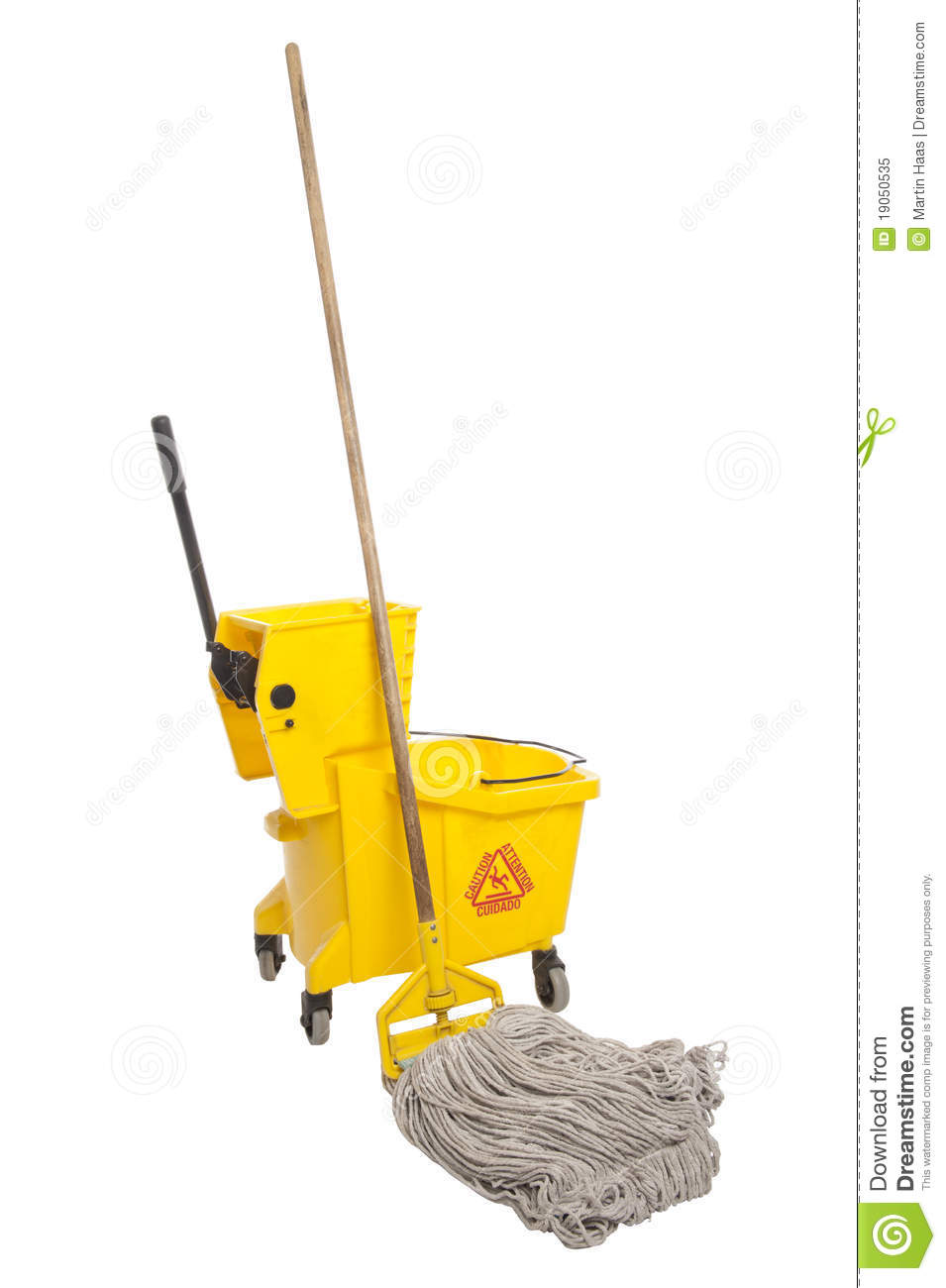 Industrial Mop And Bucket Stock Image Image Of Cleaning 19050535