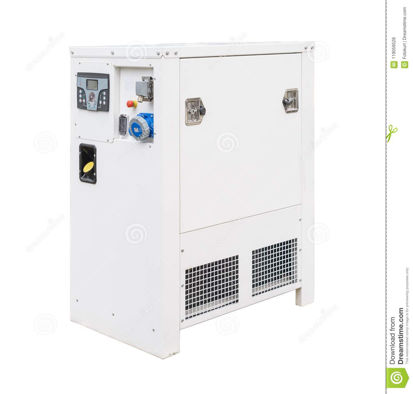Mobile Portable Diesel Or Gasoline Generator With A Radiator Circuit Breaker Remote Control