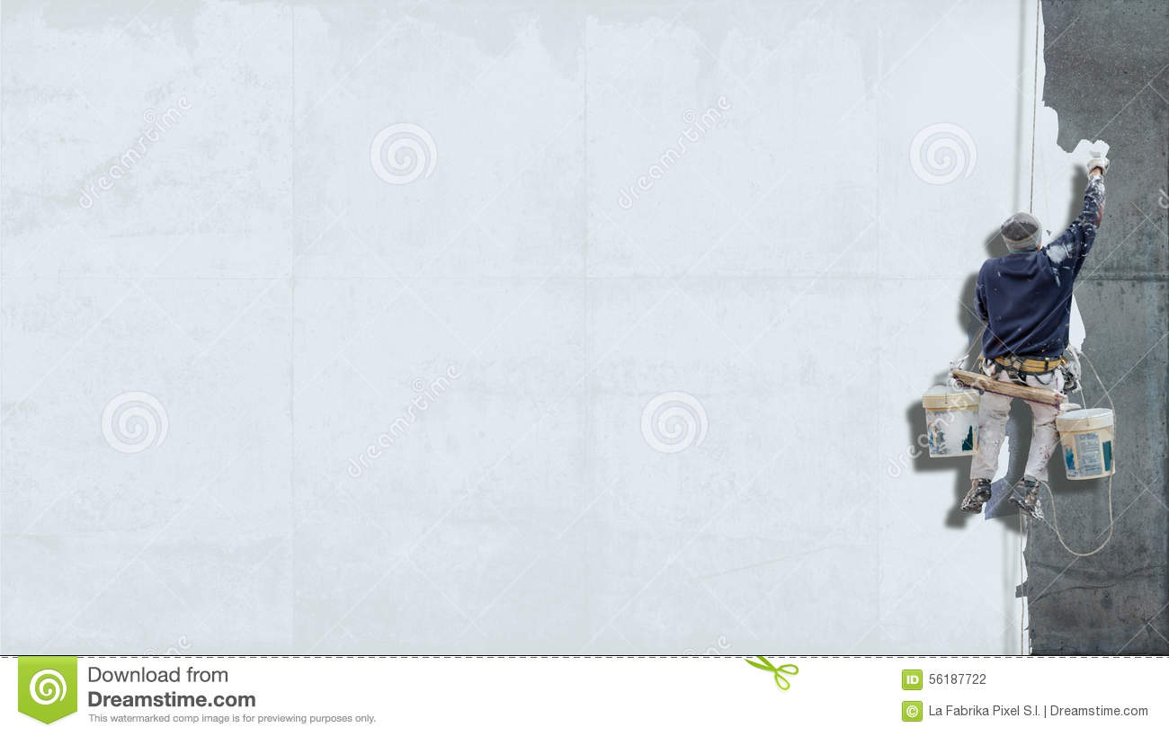 Industrial Painter White Background Stock Photo Image Of Blank