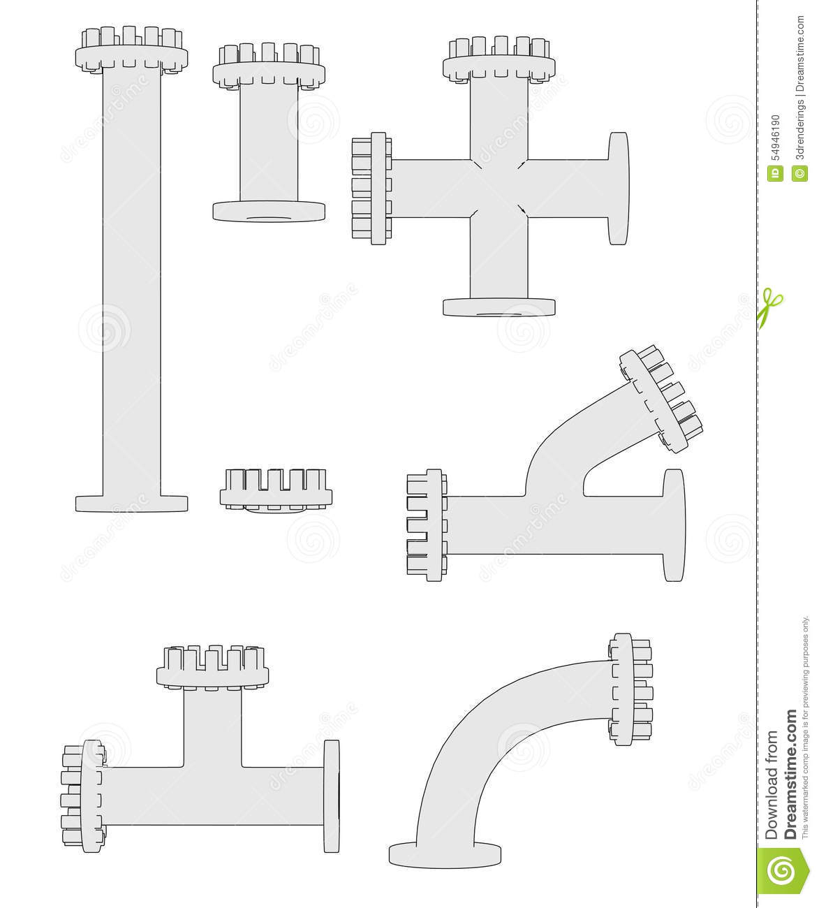 Industrial pipes stock illustration  Illustration of water - 54946190
