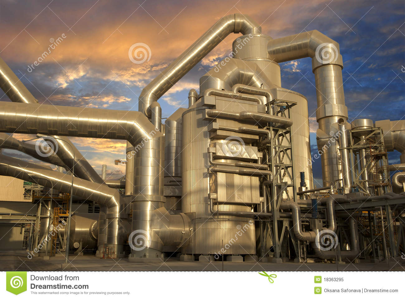 Download Industrial Plant stock image. Image of corporate, chemical - 18363295