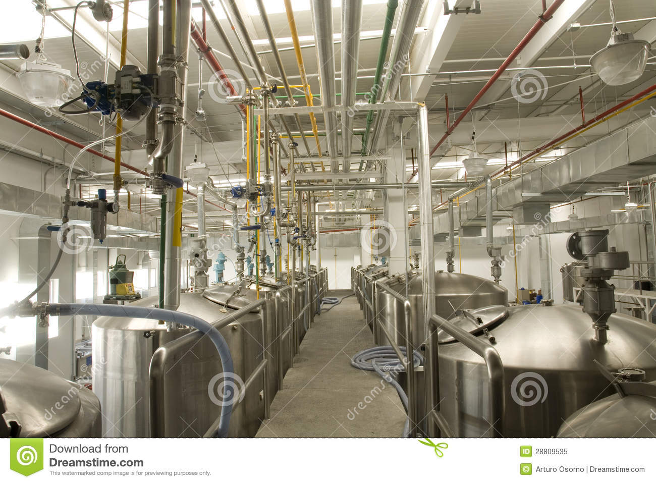 Industrial Plant Royalty Free Stock Photo Image 28809535