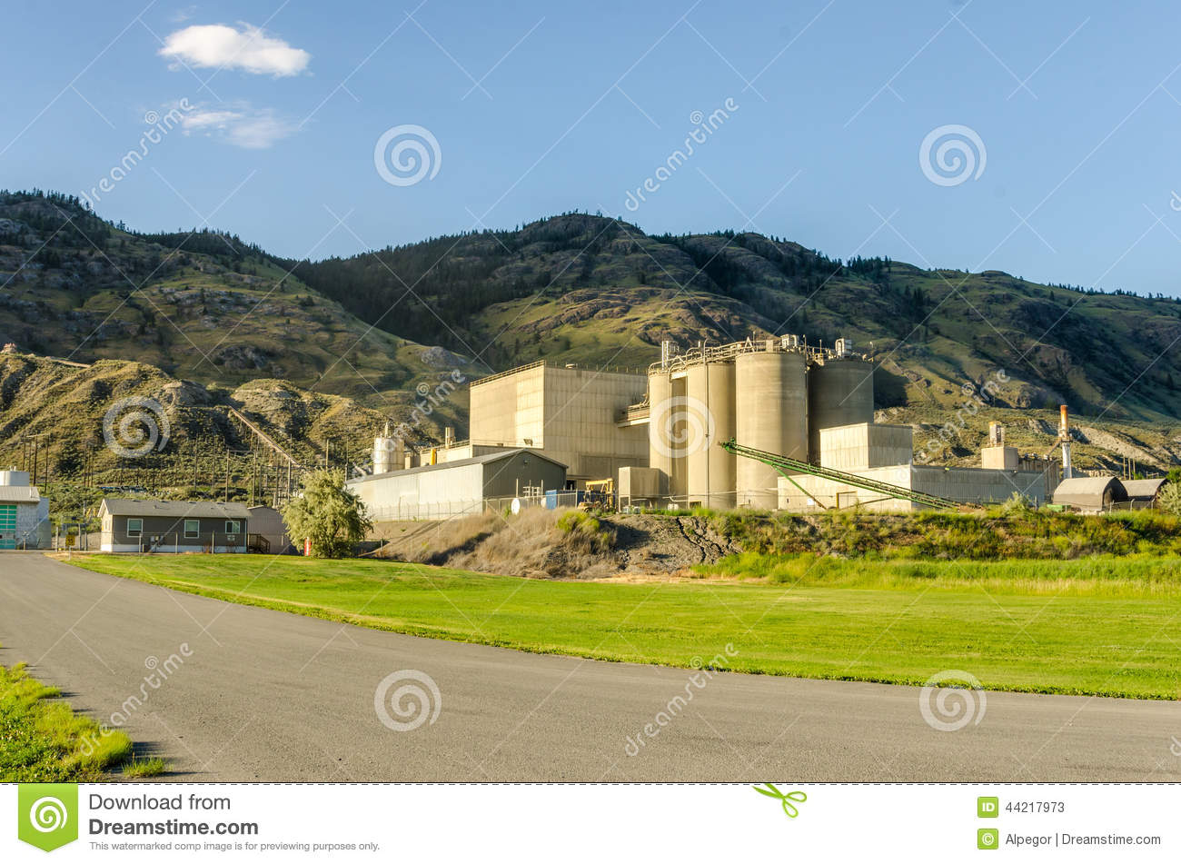 Download Industrial Plant stock image. Image of chimney, production - 44217973