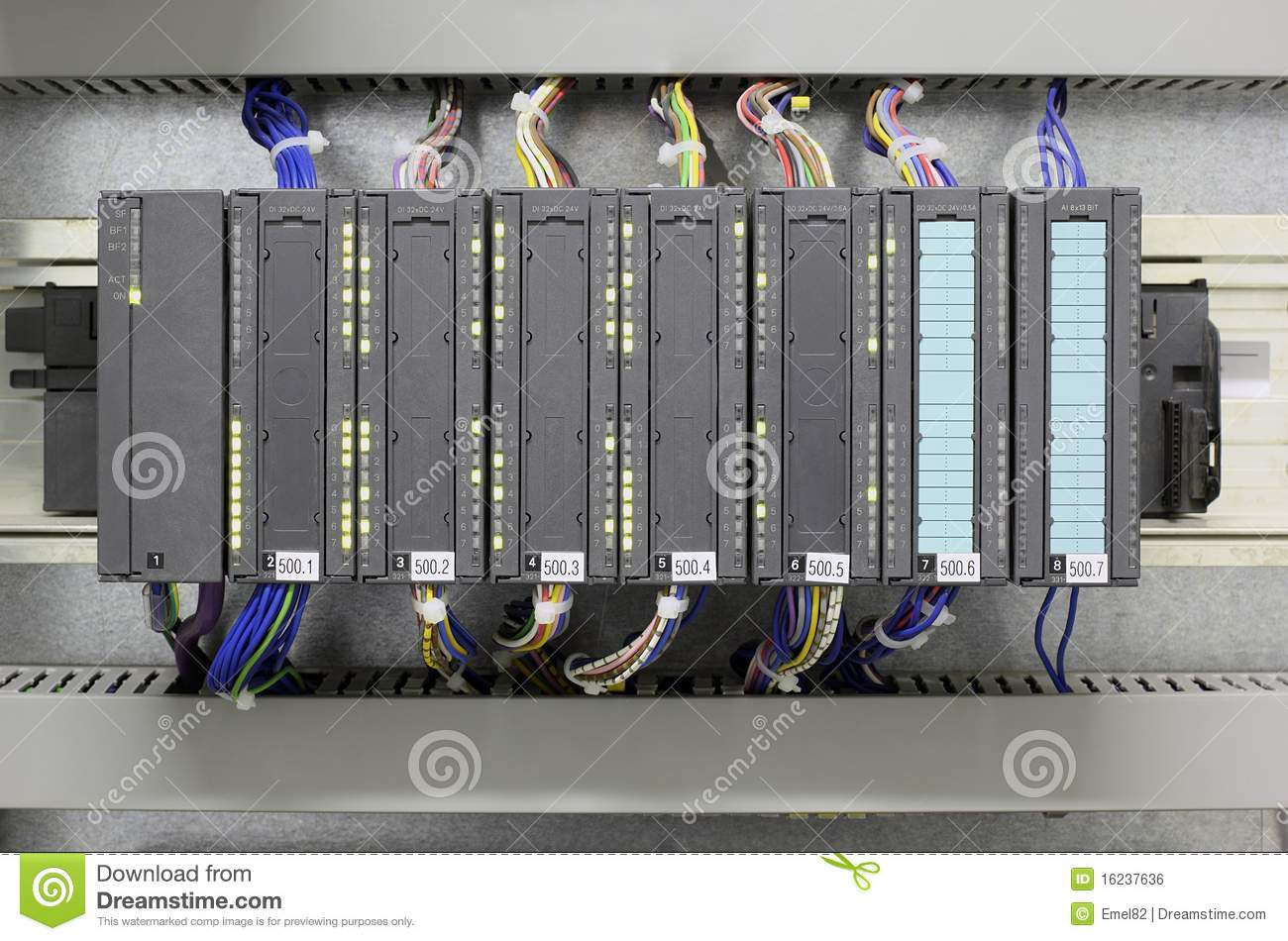industrial plc royalty free stock image