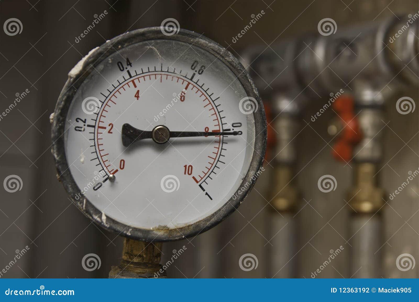 Industrial pressure meter and water pipes