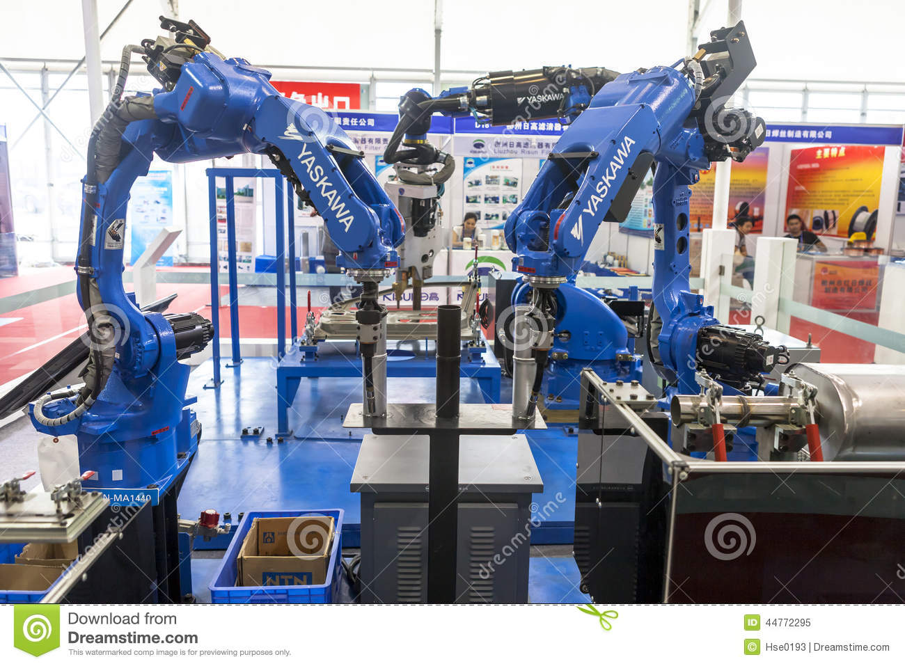 Industrial Robot For Arc Welding Editorial Image Image