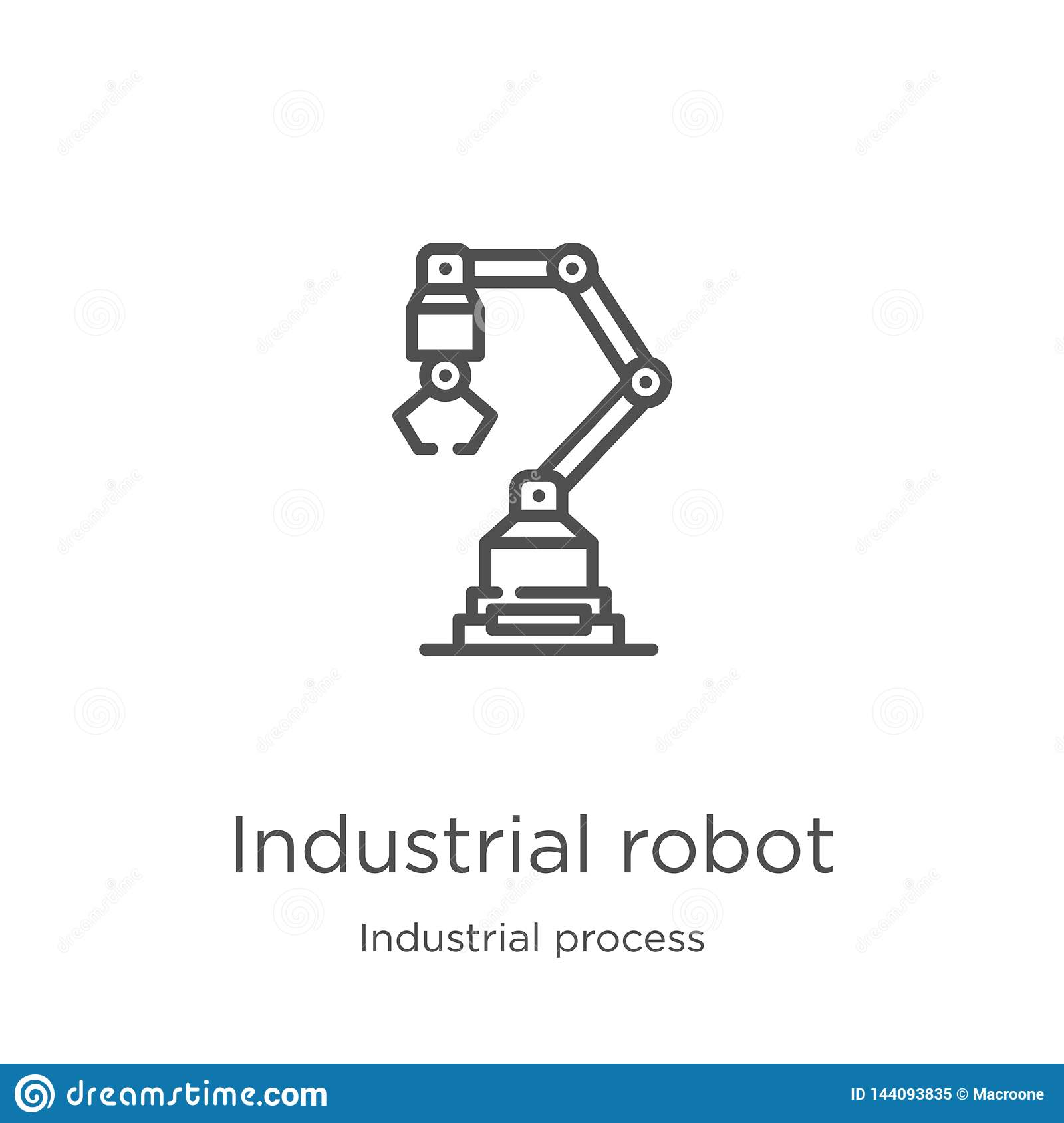 Industrial Robot Icon Vector From Industrial Process
