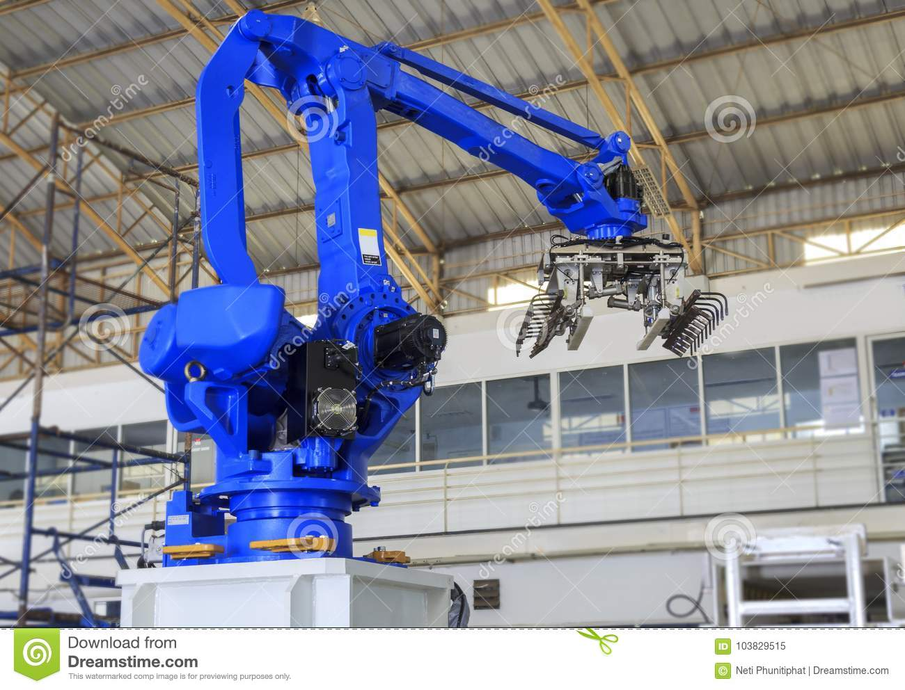 Industry 4 0 Concept, Robot Picking For Smart Warehouse In