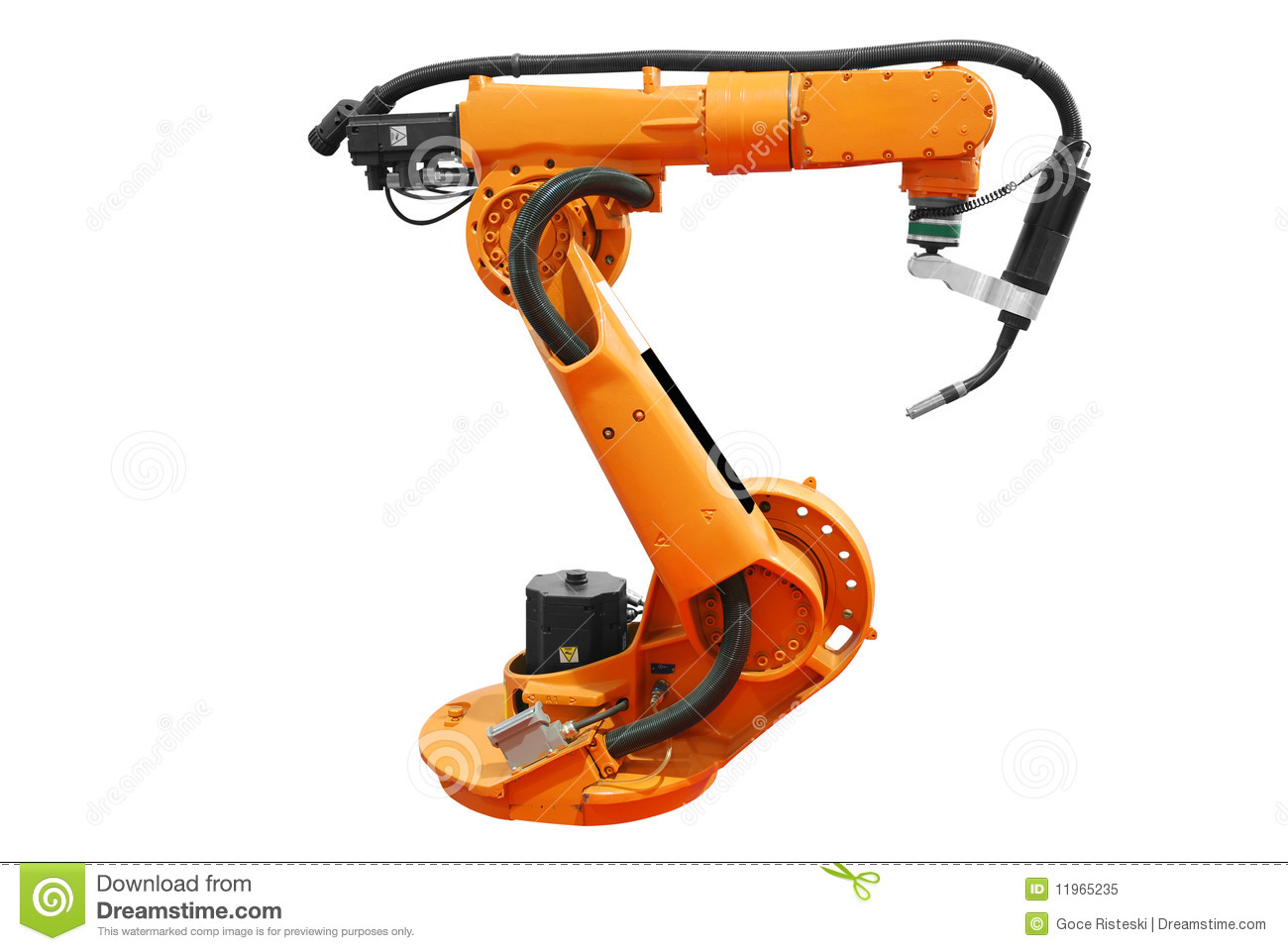 Industrial Robotic Arm Isolated Stock Image - Image of technology