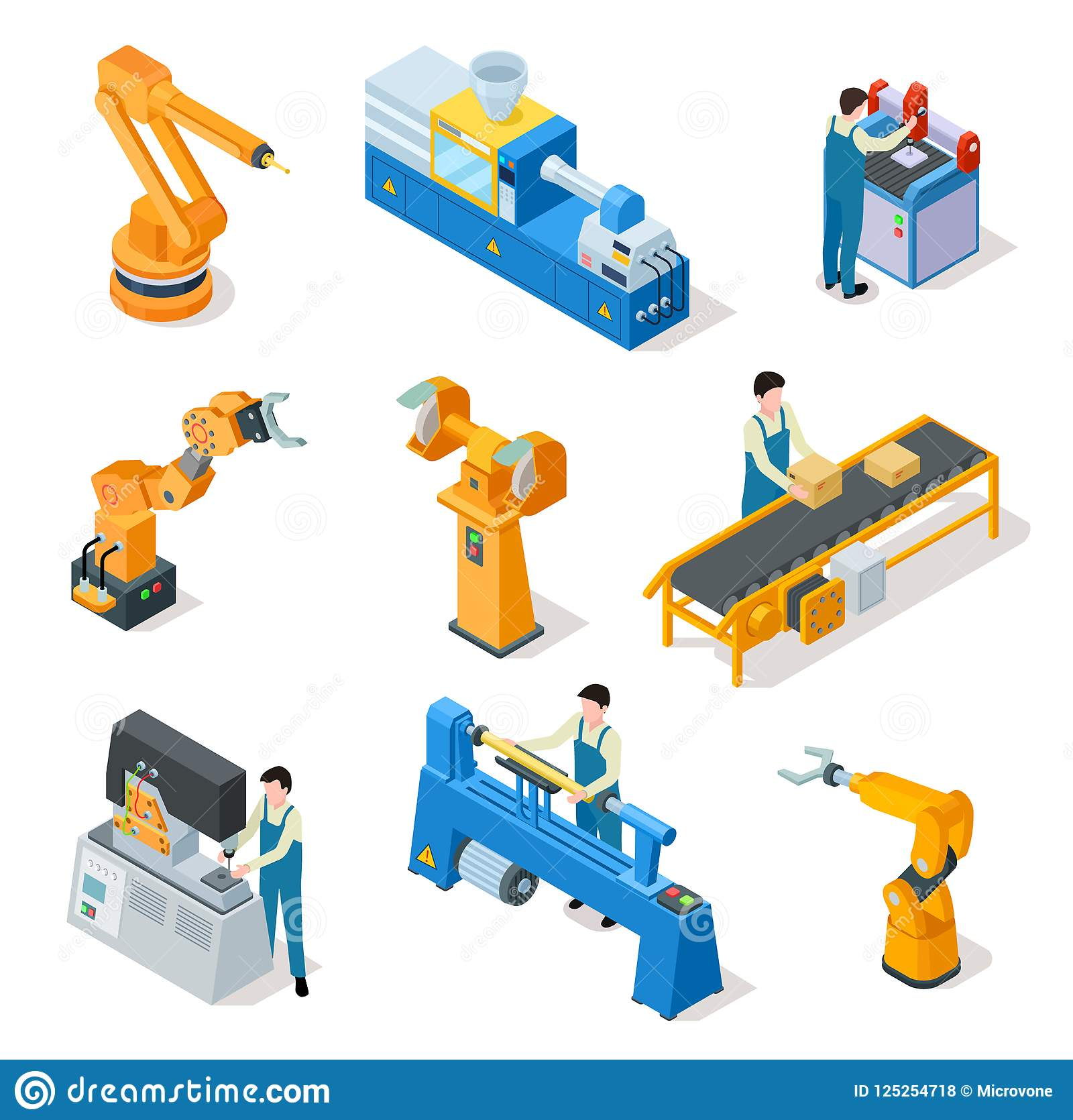 Industrial Robots  Isometric Machines  Assembly Line