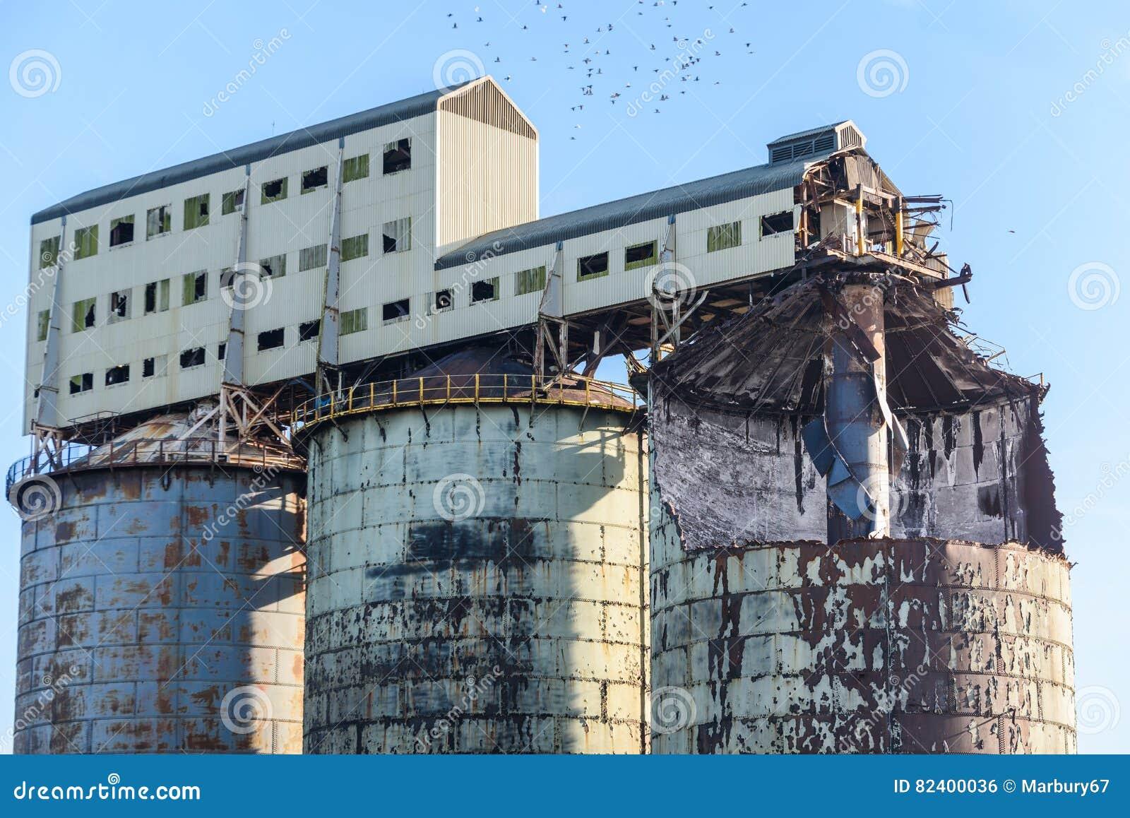 Industrial Ruin stock photo  Image of metal, environmental - 82400036