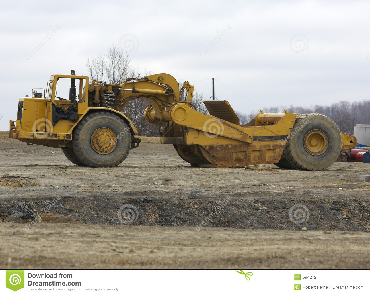 Industrial Scraper Stock Photography - Image: 694212