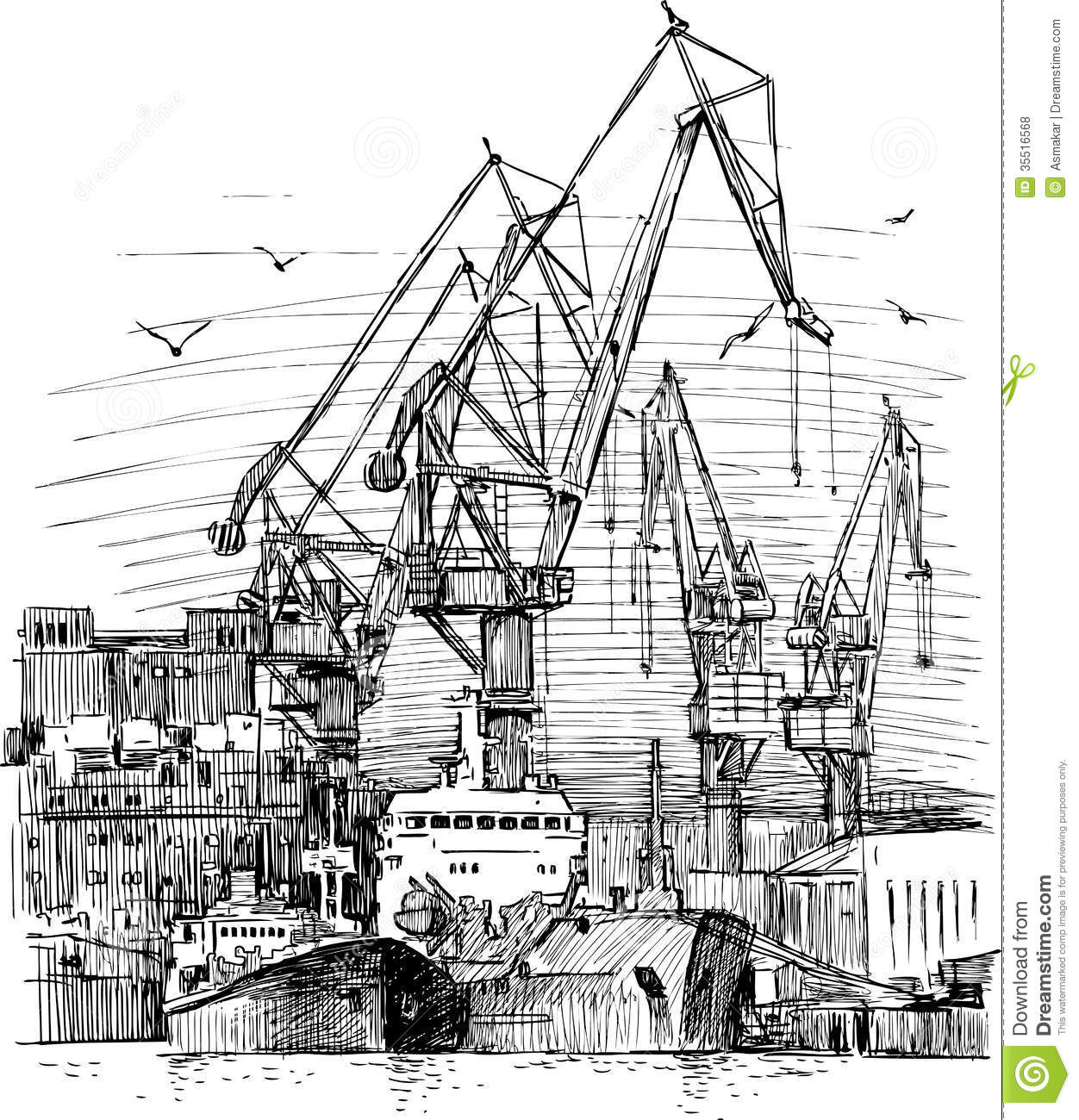 Industrial Seaport Royalty Free Stock Photos - Image: 35516568