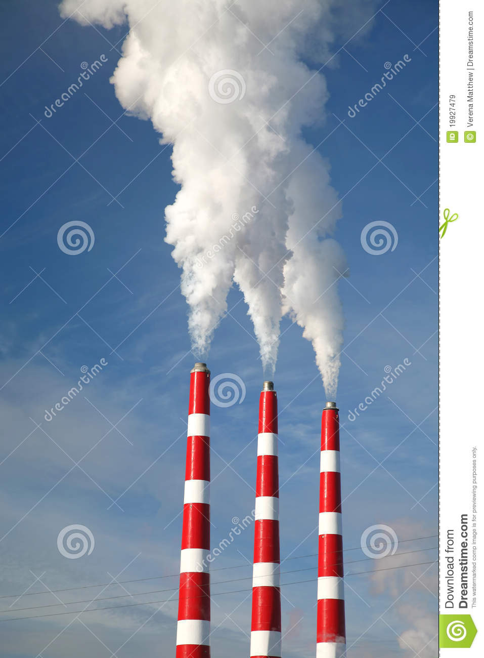 Industrial Smoke Stack Royalty Free Stock Images Image