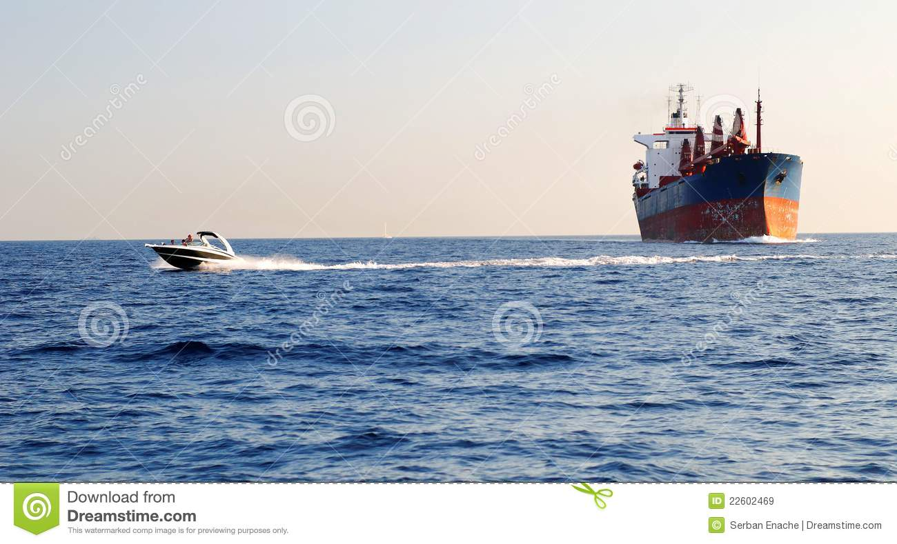Industrial and speed boat stock image. Image of scenic - 22602469